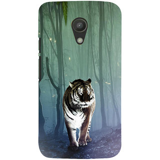 ifasho Animated Pattern With Tiger Back Case Cover for Moto G2