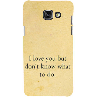 ifasho Love Quotes I love you Back Case Cover for Samsung Galaxy A7 A710 (2016 Edition)