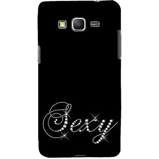 ifasho Animated Pattern design black and white diamond in royal style Back Case Cover for Samsung Galaxy Grand Prime
