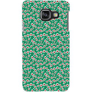 ifasho Pattern green white and red animated flower design Back Case Cover for Samsung Galaxy A3 A310 (2016 Edition)