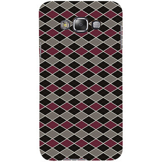 ifasho Animated Pattern of Chevron Arrows royal style Back Case Cover for Samsung Galaxy E7