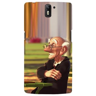 ifasho Old man playing chess animated design Back Case Cover for One Plus One