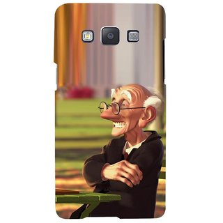 ifasho Old man playing chess animated design Back Case Cover for Samsung Galaxy A7