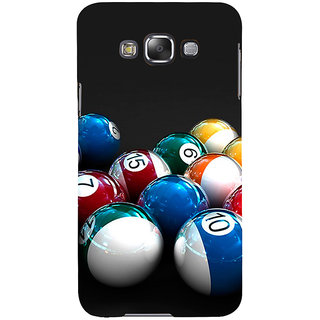 ifasho Design colourful biliards ball pattern Back Case Cover for Samsung Galaxy E7