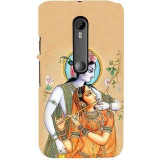 ifasho radha Krishna Back Case Cover for Moto X Force