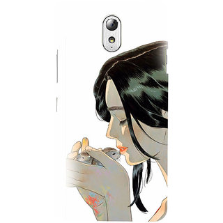 ifasho Girl kissing squirrel Back Case Cover for Lenovo Vibe P1M