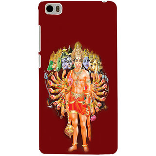 ifasho Lord Hanuman Back Case Cover for Redmi Mi5