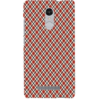 ifasho Colour Full Square Pattern Back Case Cover for REDMI Note 3