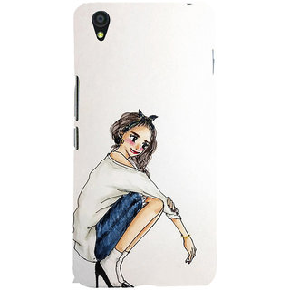 ifasho Sitting Girl Back Case Cover for One Plus X