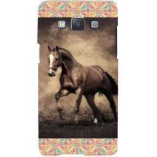 ifasho Brown Horse Back Case Cover for Samsung Galaxy A7