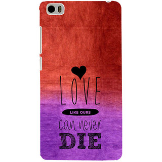 ifasho Love Can Not Die Back Case Cover for Redmi Mi5
