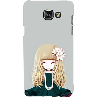 ifasho Girl  with Flower in Hair Back Case Cover for Samsung Galaxy A7 A710 (2016 Edition)