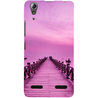 ifasho walking wooden bridge on a sea Back Case Cover for Lenovo A6000 Plus