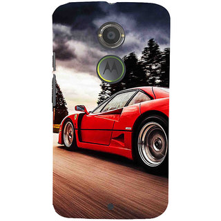 ifasho racing car Back Case Cover for Motorola MOTO X2