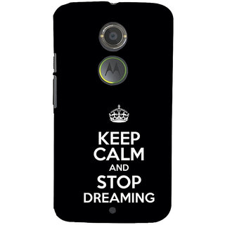 ifasho Nice Quote On Keep Calm Back Case Cover for Motorola MOTO X2