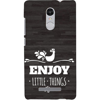 ifasho enjoy little things Back Case Cover for REDMI Note 3