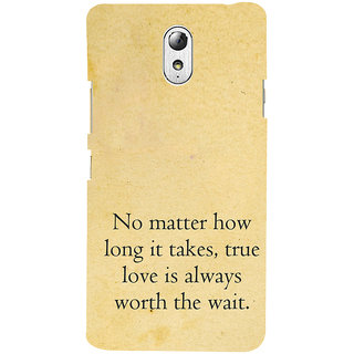 ifasho 3Due love quotes Back Case Cover for Lenovo Vibe P1M