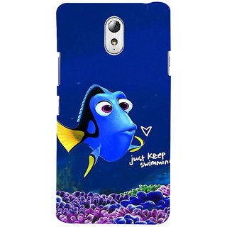 ifasho Fish cartoon just keep swimming Back Case Cover for Lenovo Vibe P1M