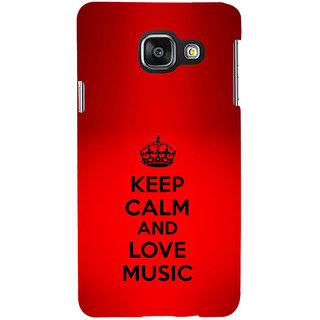 ifasho Nice Quote On Keep Calm Back Case Cover for Samsung Galaxy A3 A310 (2016 Edition)