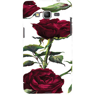 ifasho Animated Pattern colorful rose flower with leaves Back Case Cover for Samsung Galaxy Grand Prime
