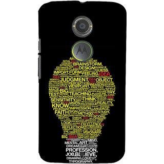 ifasho Quotes on idea animated bulb Back Case Cover for Motorola MOTO X2