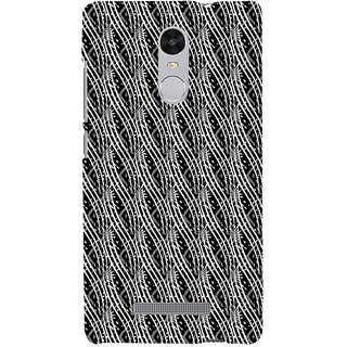 ifasho Design lines pattern Back Case Cover for REDMI Note 3