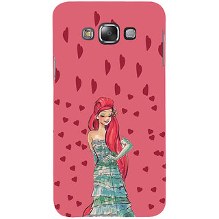 ifasho Cute Girl animated Back Case Cover for Samsung Galaxy E7
