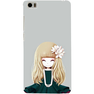 ifasho Girl  with Flower in Hair Back Case Cover for Redmi Mi5