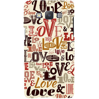ifasho Love pattern Back Case Cover for Samsung Galaxy A7