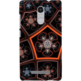 ifasho Animated Pattern design colorful flower in royal style Back Case Cover for REDMI Note 3