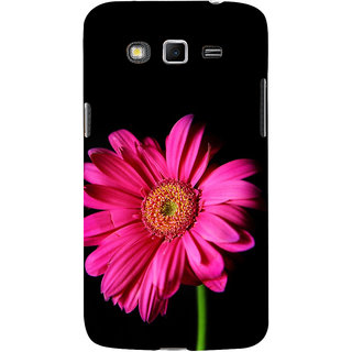 ifasho Flower Design Pink flower in black background Back Case Cover for Samsung Galaxy Grand