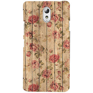 ifasho Modern Art Design painted flower on wood Back Case Cover for Lenovo Vibe P1M