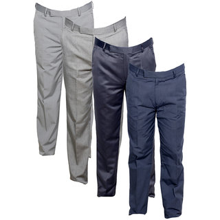 Indistar Men's Rayon Formal Trousers (Pack of 4)_Gray::Gray::Gray::Gray_Size: 30