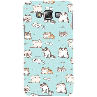 ifasho Animated Design  Many Cat Back Case Cover for Samsung Galaxy E7