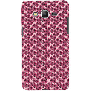ifasho Animated Pattern small purple rose flower Back Case Cover for Samsung Galaxy Grand Prime
