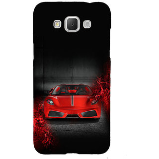 ifasho Stylish RED Car Back Case Cover for Samsung Galaxy Grand Max