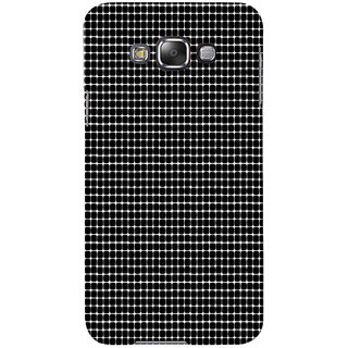 ifasho Animated Pattern  equal size Circle black and white Back Case Cover for Samsung Galaxy E7