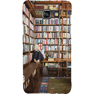 ifasho colrful design library pattern Back Case Cover for Samsung Galaxy A7 A710 (2016 Edition)