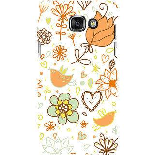 ifasho Animated Pattern colrful design cartoon flower with leaves Back Case Cover for Samsung Galaxy A7 A710 (2016 Edition)