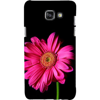 ifasho Flower Design Pink flower in black background Back Case Cover for Samsung Galaxy A5 A510 (2016 Edition)