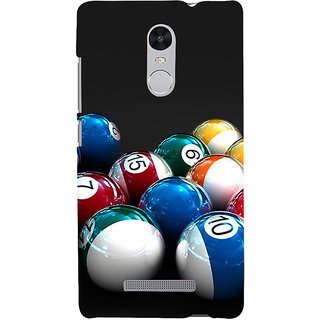 ifasho Design colourful biliards ball pattern Back Case Cover for REDMI Note 3