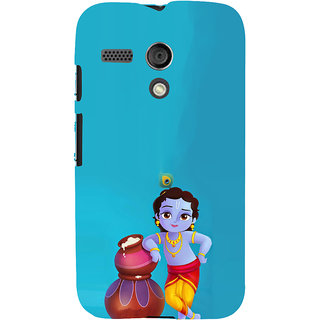 ifasho Lord Krishna stealing curd animated Back Case Cover for Moto G
