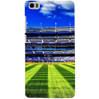 ifasho Football stadium field Baseball field Back Case Cover for Redmi Mi5