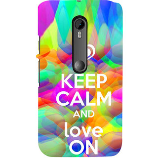 ifasho Nice Quote On Keep Calm Back Case Cover for Moto X Force