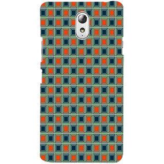 ifasho Colour Full Square Pattern Back Case Cover for Lenovo Vibe P1M