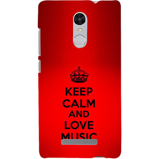 ifasho Nice Quote On Keep Calm Back Case Cover for REDMI Note 3