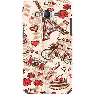 ifasho Modern Art Design Pattern Bicycle camera cake tower Back Case Cover for Samsung Galaxy Grand Prime