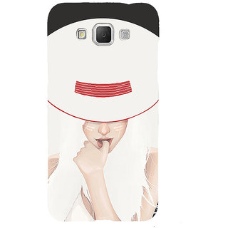 ifasho Gorgeous Winking Girl in white hat Back Case Cover for Samsung Galaxy Grand3