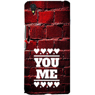 ifasho Quote On Love you and me Back Case Cover for One Plus X