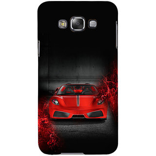 ifasho Stylish RED Car Back Case Cover for Samsung Galaxy E7